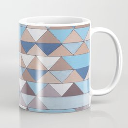 Triangle Pattern No.6 Crisp Blue Coffee Mug