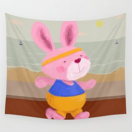 Bunny Runner Wall Tapestry