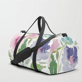 Purple and Pink Peonies Duffle Bag