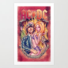Highway to ACDC Art Print