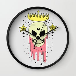 Crowned Skull Wall Clock