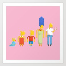The Simpsons Art Print