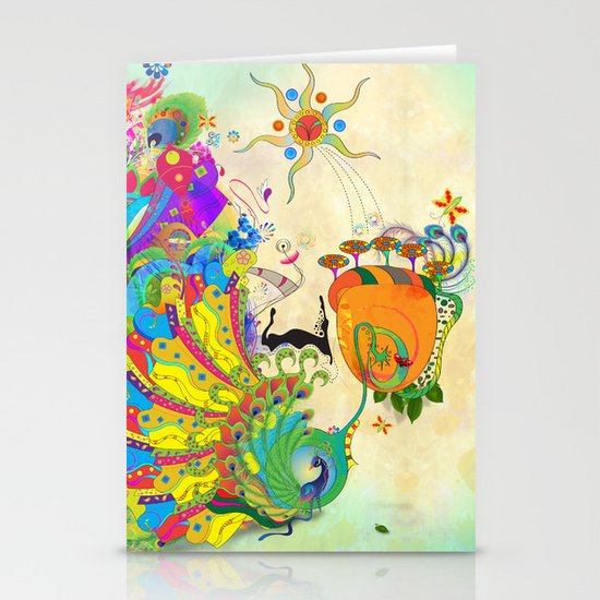 The Peacock Dance Stationery Cards