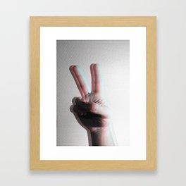 V V Framed Art Print