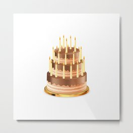Big chocolate cake Metal Print