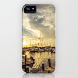 Summer Harbor Sunset iPhone Case