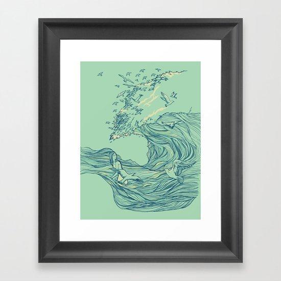 Ocean Breath Framed Art Print