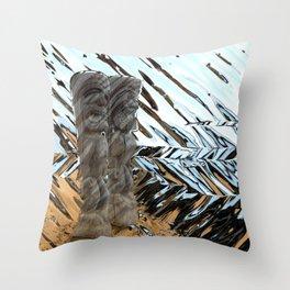 Tribal Tikis Throw Pillow