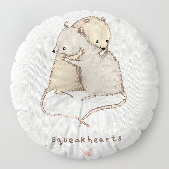 Squeakhearts Floor Pillow