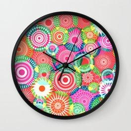 Kooky kaleidoscope Multicolored Wall Clock
