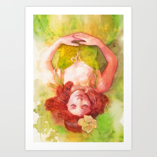Princess of the forest Art Print
