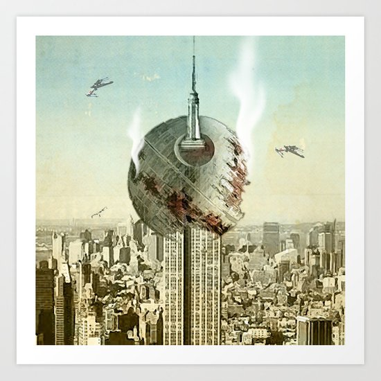 impaled on the empire Art Print