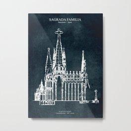 Sagrada Familia Metal Print