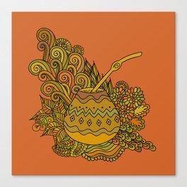 Yerba Mate In The Gourd Canvas Print