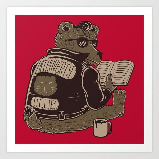 Introverts Club Art Print