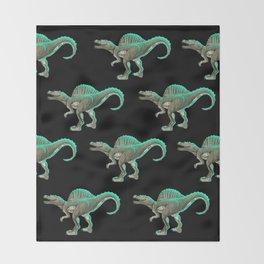 Spinosaurus Dinosaur Throw Blanket