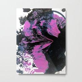 Munich: an abstract painting in black fuschia and purple by Alyssa Hamilton Art Metal Print