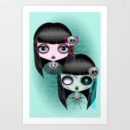 Zombie Doll The Dark Side Art Print