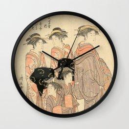 The Courtesans Maizumi Of The Daimonjiya Brothel Wall Clock