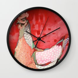Little Red Hen Wall Clock