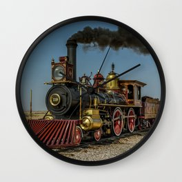 UP 119 Golden Spike Utah Steam Locomotive Historic Train Wall Clock