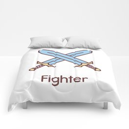 Cute Dungeons and Dragons Fighter class Comforters