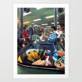 Supermarket, nonsocial vibration Art Print