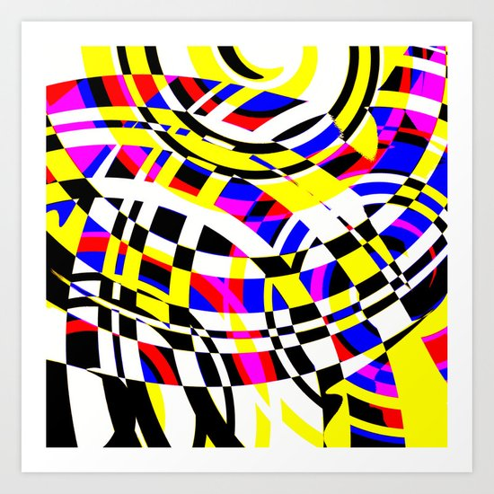 Ripples in Time from the 80's Art Print
