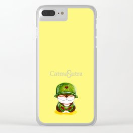 Soldier cat Clear iPhone Case