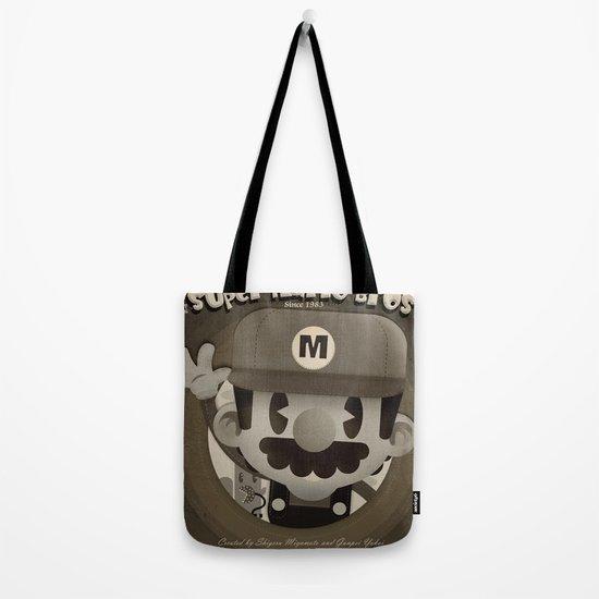 Mario Bros Fan Art Tote Bag