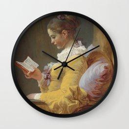 Jean Honoré Fragonard Young Girl Reading c. 1769 Painting Wall Clock