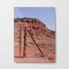 Lazy Fence Metal Print