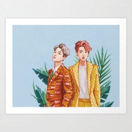 BTS Jungkook and Jimin Art Print