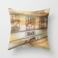grace Throw Pillows featuring Grace. by Heather Goodwin