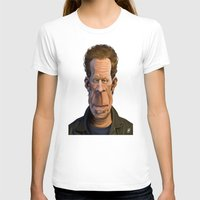 celebrity T-shirts featuring Celebrity Sunday ~ Tom Waits by rob art | illustration