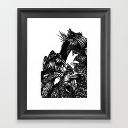 The Riot : Crows Framed Art Print