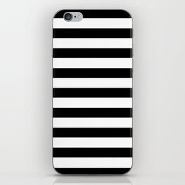 Midnight Black and White Stripes iPhone Skin