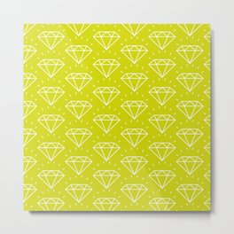 DIAMOND ((chartreuse)) Metal Print