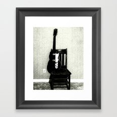 This Chair and Guitar Weren't Always So Lonely Framed Art Print