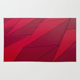 dark red edge Rug