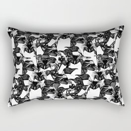just penguins black white Rectangular Pillow
