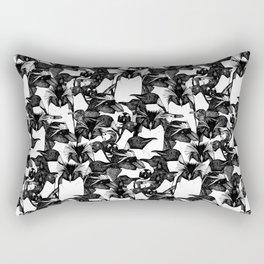 just penguins black white Rectangular Pillow