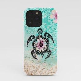Hibiscus Turtle iPhone Case