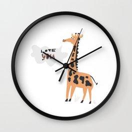 Love Giraffe Wall Clock
