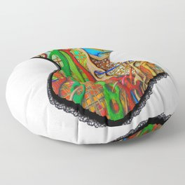 Bright abstract corset Floor Pillow