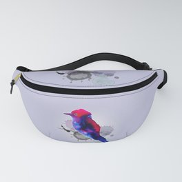Purple spotty bird Fanny Pack