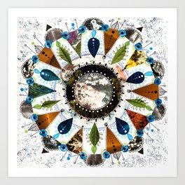 Earth Mandala Art Print