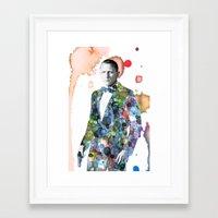 james bond Framed Art Prints featuring Bond, James Bond by NKlein Design