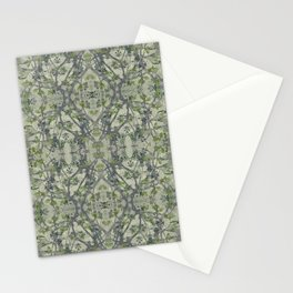 Modern Noveau Floral Pattern Stationery Cards