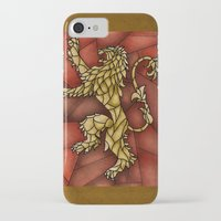 tyrion iPhone & iPod Cases featuring House Lannister Stained Glass by itsamoose